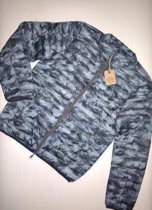 Куртка recycled испания демисезон l -3 xl синяя камуфляж