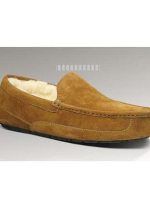 Ugg оригинал/мужская зимняя обувь/замшевые мокасины на овчине/р.42-43/28см новые