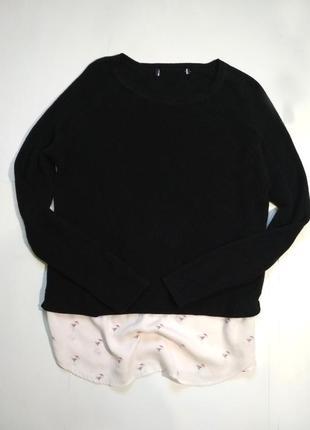 М'якенький джемпер кофта обманка over size/свитер