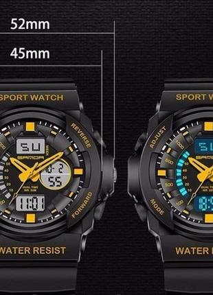 Водонепроницаемые противоударные спортивные мужские наручные часы sanda 91378f2c35a