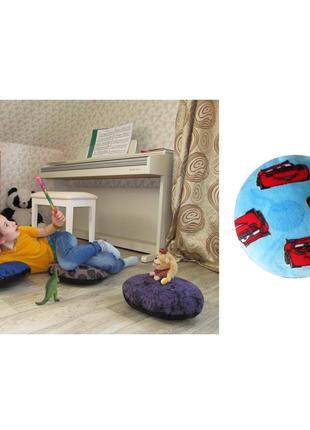 Пуф детский подушка для сидения на полу пуфик новый махра 35х35 cars тачки сидушка детсад