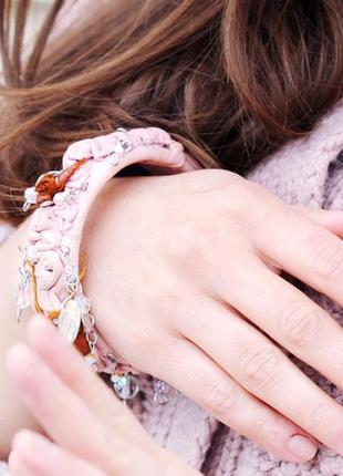 Essence cult пудровый браслет из кожи в викторианском стиле с кристаллами swarovski