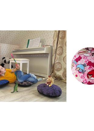 Пуф детский подушка для сидения на полу пуфик махра angry birds 35х35 сидушка школа детсад