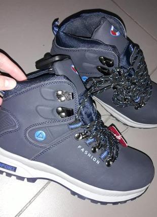Подросток 36-41 кроссовки ботинки зима на меху теплые зимние вездеходы спорт