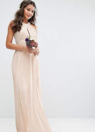 Платье макси с плиссировкой tfnc