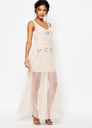 Платье с отделкой бисером boohoo boutique