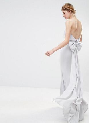 Платье макси с большим бантом сзади jarlo