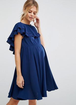 Нежное платье с воланами asos maternity
