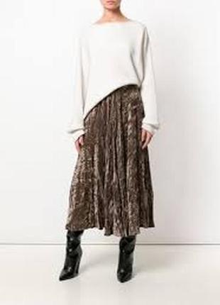 Бархатная велюровая юбка