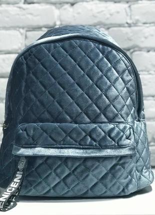 Вместительный бархатный рюкзак