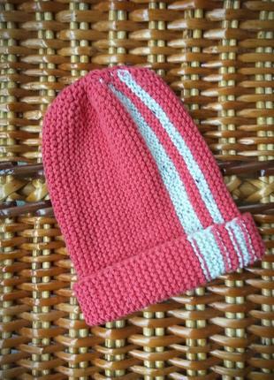Вязаная шапочка, удлиненная шапка бини
