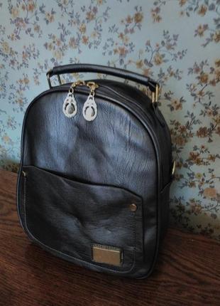 Тёмно-серый графитовый перламутровый рюкзак 27*26