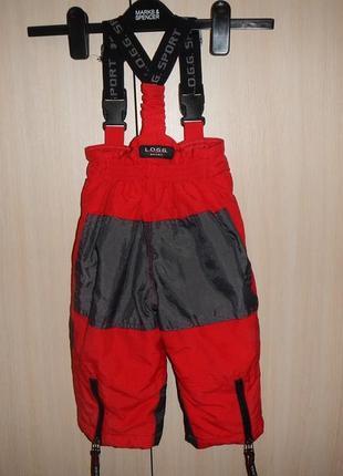 Штаны лыжные l.o.g.g. р.80см полу комбинезон2 фото