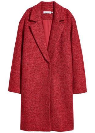 Пальто из смесовой шерсти h&m