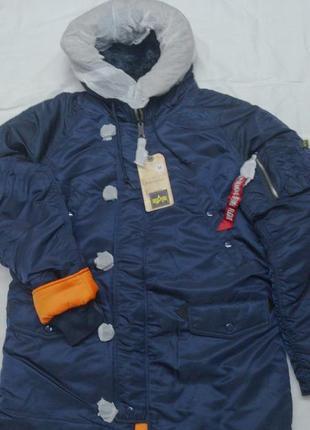 Куртка alpha industries, slim fit n-3b, оригинал.