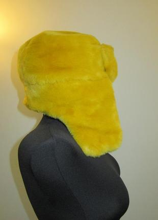 River island теплая шапка ушанка