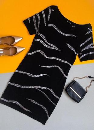 Готовимся к новогодним корпоративам! коктейльное платье с серебристым стеклярусом