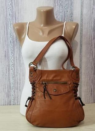 Kookai кожаная женская сумка.
