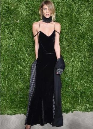 🍏 чёрное платье бархатное next вискоза +шёлк