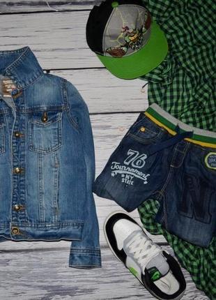 6 лет 116 см обалденный фирменный пиджак джинсовый курточка next некст