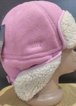 Флисовая шапка-ушанка на меху puffa ( asos)