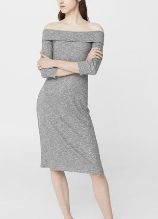 Комфортное платье с объемной горловиной  dr1846213  mango