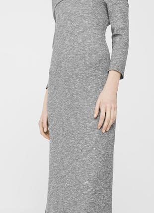 Комфортное платье с объемной горловиной  dr1846213  mango3