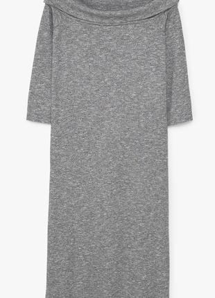Комфортное платье с объемной горловиной  dr1846213  mango4