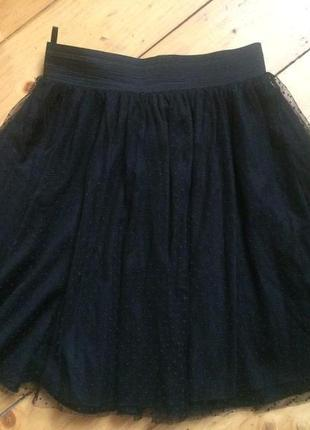 Нарядная юбка миди сетка
