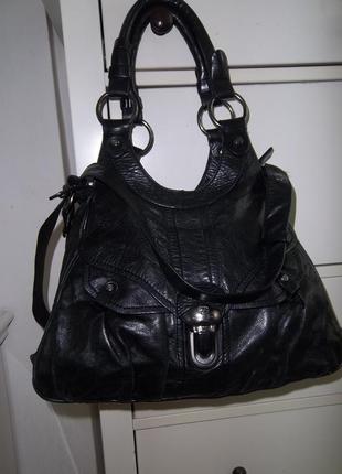 Брендовая кожаная сумка ffancesco biagia