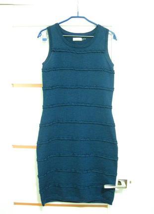Трикотажное платье 50% шерсть р. s-м calvin klein вязаное