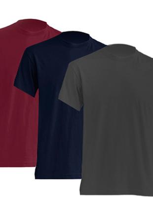 Комплект мужских базовых футболок «3в1» 100% коттон испания