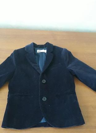 Велюровый пиджак для мальчика 3-4 года
