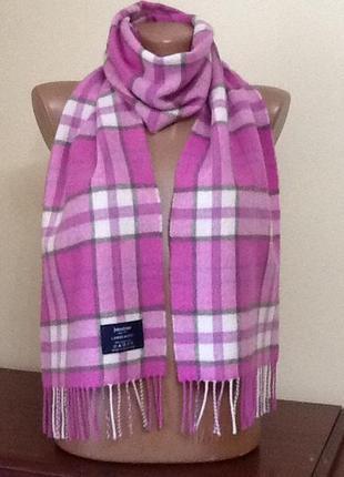 Шотландский шерстяной шарф от johnstons