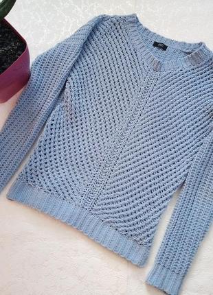 Вязаный свитер крупная вязка