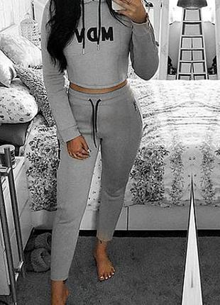 Серый спортивный костюм manière de voir свитшот штаны неопрен