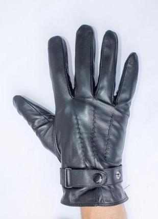 Перчатки мужские на меху из кожи ягненка , разные размеры