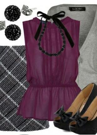 Тёплая юбка трапеция на подкладке