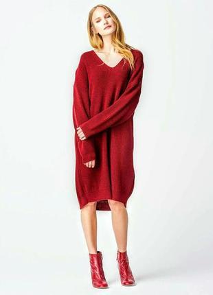 Теплое платье туника oversize