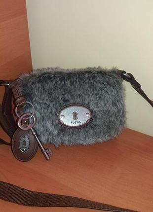 Шкіряна фірмова сумочка кросбоді американського бренду fossil.оригінал!!!