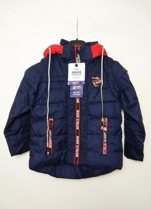 Куртка /жилетка 2в1 осень/весна для мальчика 98 см