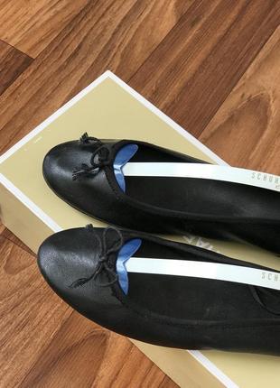 Чёрные балетки 39