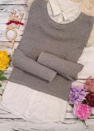 Модный свитер рубашка 12-14