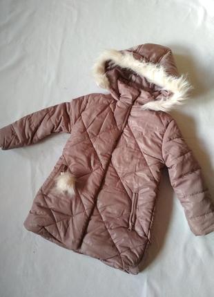 Теплая змняя курточка для девочки, пальто зимнее