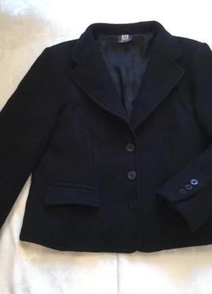 Шерстяной (virgin wool) пиджак/ пог 55/ как новый