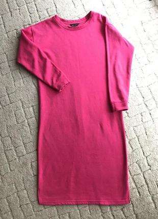 Платье свитшот удлиненный оверсайз