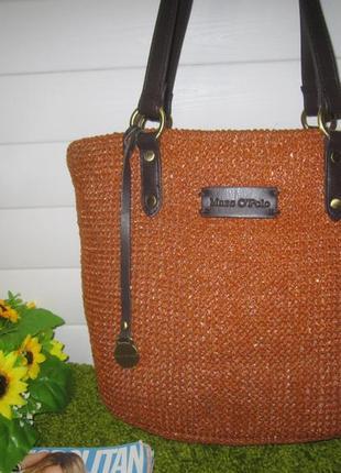 Стильная, плетеная сумка дорогого! бренда marc o'polo