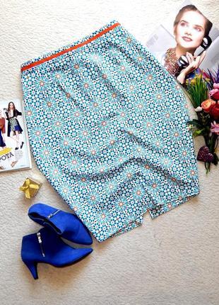 Новая шикарная миди юбка tu в яркий принт plus size 20