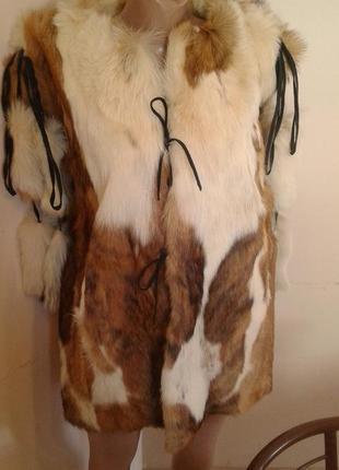 Шуба-безрукавка з натурального хутра