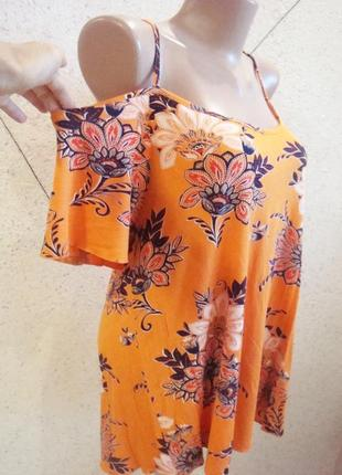 Блуза с открытыми плечиками 14-18